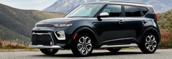 2020 Kia Soul in mountains